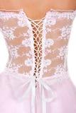 在白色的新娘束腰 免版税库存照片