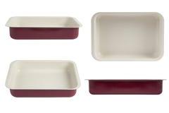 烤箱盘子,不粘锅的涂层烧烤平底锅 库存图片