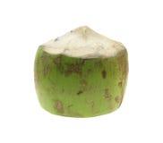 在白色的新鲜的椰子 热带水果新鲜的椰子 免版税库存照片