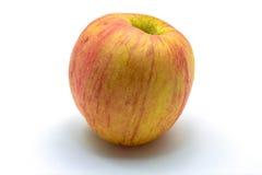 在白色的新鲜的红色苹果 免版税库存图片