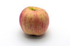 在白色的新鲜的红色苹果 库存照片