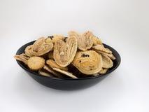 在白色的曲奇饼 免版税库存图片