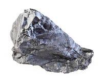 在白色的未加工的无烟煤石头 库存图片