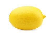 在白色的柠檬 免版税库存照片