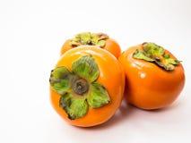 在白色的柿子 免版税库存图片