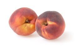 在白色的桃子 图库摄影