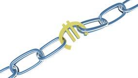 在白色的欧洲链子 免版税库存图片