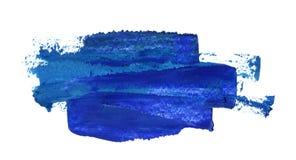 在白色的油手画深蓝冲程 免版税库存图片