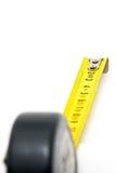 在白色的测量的工具被隔绝的对象 免版税库存照片