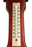 在白色的温度计 库存图片