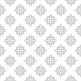 在白色的灰色花卉装饰设计 无缝的backround 库存图片