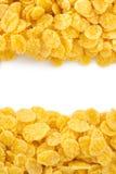 在白色的玉米片 免版税库存图片