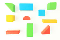 在白色的玩具木块 库存图片