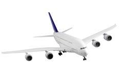 在白色的现代飞机。 免版税库存照片