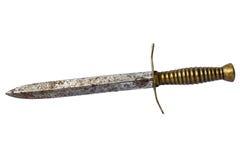 在白色的生锈的匕首 免版税图库摄影