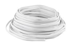在白色的电缆 免版税库存图片