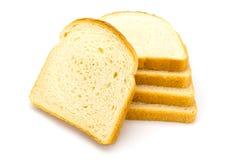 在白色的白面包 库存照片