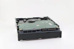在白色的硬盘驱动器 库存照片