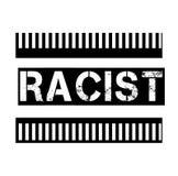 在白色的种族主义者的邮票 皇族释放例证