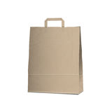 在白色的空的承运人褐色袋子 库存例证