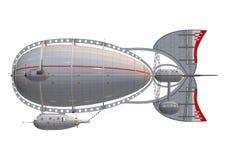 在白色的策帕林飞艇 免版税库存图片