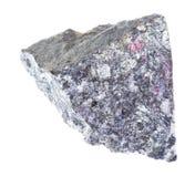 在白色的粗砺的Antimonite (辉锑矿)石头 图库摄影