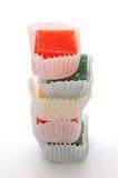 在白色的糖果 免版税库存图片