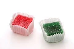 在白色的糖果 免版税图库摄影