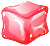 在白色的红色立方体 皇族释放例证