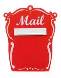 在白色的红色葡萄酒邮箱 免版税图库摄影