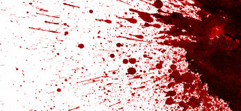 在白色的红色血迹 免版税图库摄影
