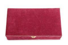 在白色的红色配件箱 免版税库存照片