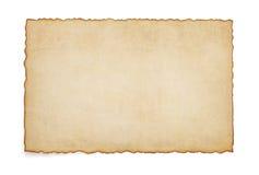 在白色的纸葡萄酒羊皮纸 免版税库存照片
