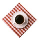 在白色的经典咖啡 免版税库存照片