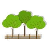 在白色的绿色森林图标 免版税库存图片