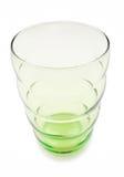 在白色的绿色玻璃杯子 图库摄影