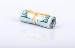在白色的美元 库存图片