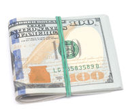 在白色的美元 免版税图库摄影