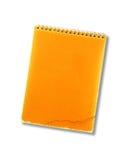 在白色的老笔记本 库存图片