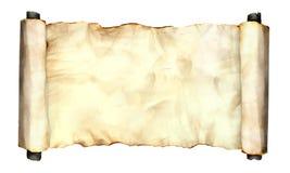 在白色的老纸板料 免版税库存图片