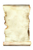 在白色的老纸板料 免版税图库摄影