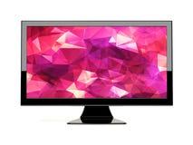 在白色的背景计算机显示器查出的监控程序 库存图片