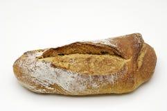 在白色的背景面包 免版税库存照片