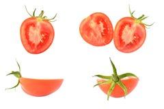 在白色的腐烂的蕃茄 免版税图库摄影