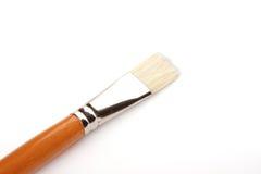 在白色的艺术性的画笔 免版税图库摄影