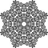 在白色的艺术黑技术无缝的相称样式 库存照片
