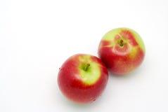在白色的苹果 免版税库存图片