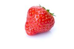在白色的草莓 库存图片