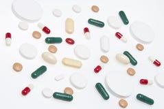 在白色的药物 免版税图库摄影