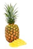 在白色的菠萝 免版税库存图片